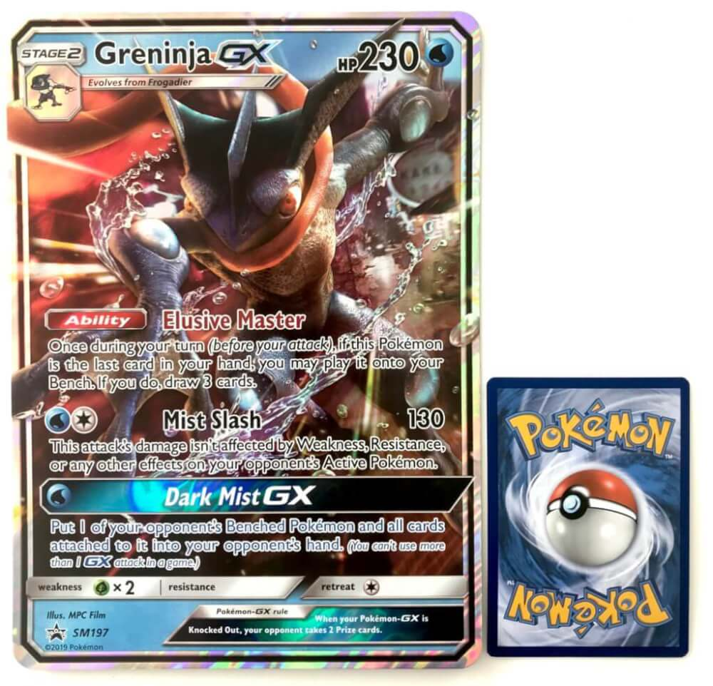 Greninja Gx Jumbo, Pokemon kort, big