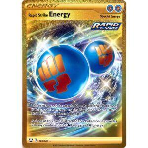 Rapid Strike Full art (Guld Energy)